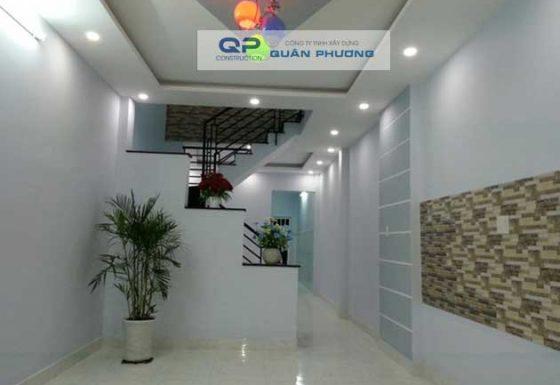 Công trình Xây nhà của anh Dũng đường Phan Văn Trị, quận Gò Vấp.